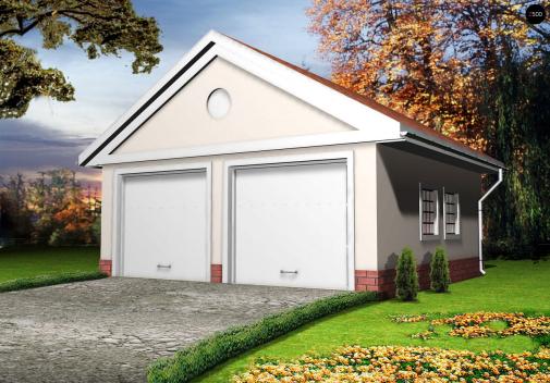 Проект дома с двускатной крышей Zg11