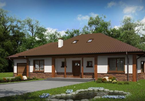 Проект дома со сложной крышей Z10 D sdu GL