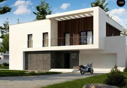 Проект двухэтажного дома Zx39 GP2