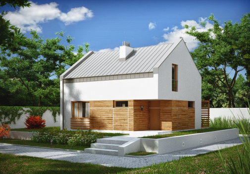 Проект дома с двускатной крышей Z229