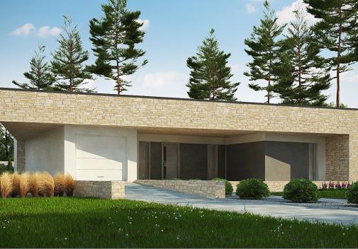 Проект дома с плоской крышей Zx71