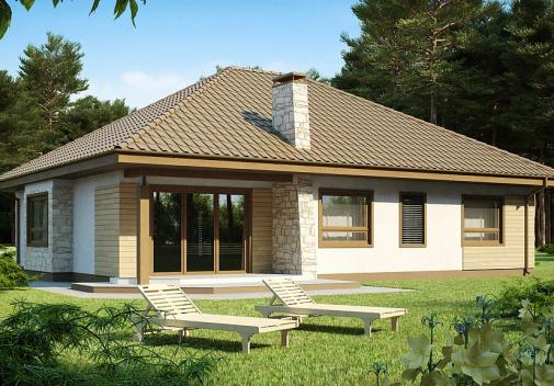 Проект дома с двускатной крышей Z19
