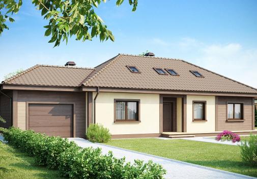 Проект дома со сложной крышей Z90