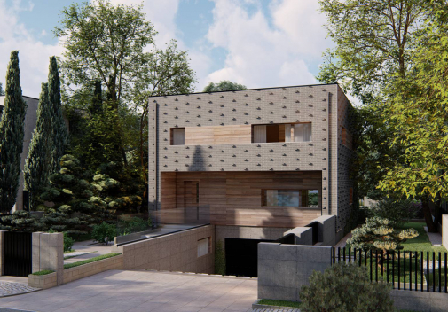 Проект дома с цоколем Zx216