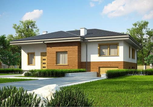 Проект дома с цоколем Z337