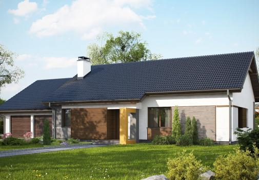 Проект дома с гаражом на 2 машины Z287 GL2