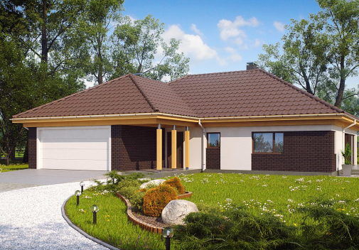 Проект дома со сложной крышей Z144