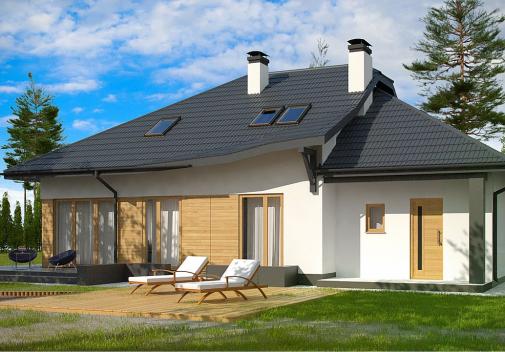 Проект дома со сложной крышей Z56 A