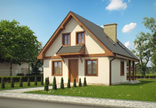 Проект дома с мансардой Z30 L bl