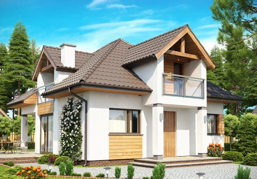 Проект дома со сложной крышей Z145