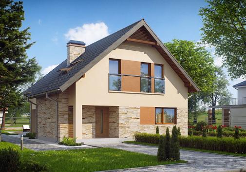 Проекты компактных домов до 150 м2 Z134
