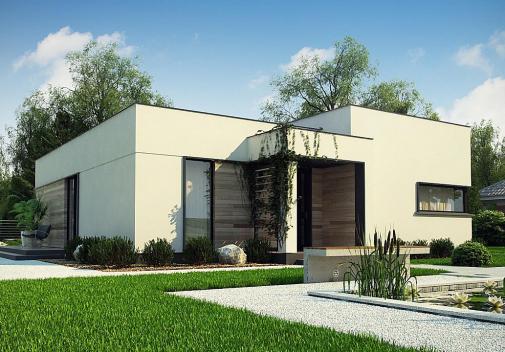 Проект дома с плоской крышей Zx138