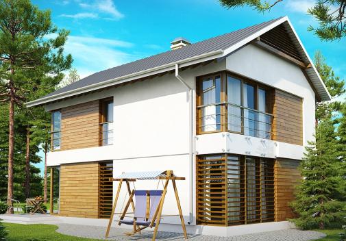 Проекты компактных домов до 150 м2 Z155