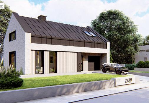 Проект дома с гаражом Z469