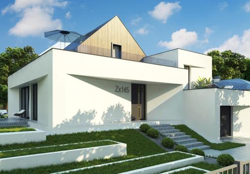 Проект дома с цоколем Zx145