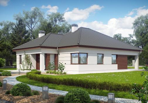 Проект дома со сложной крышей Z195