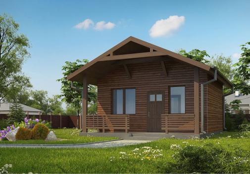 Проект дома с двускатной крышей Zp3