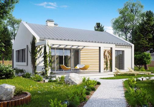 Проекты гостевых домов до 100 м2 Z251