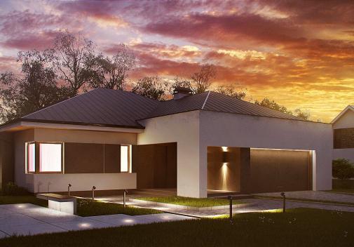 Проект дома Z158