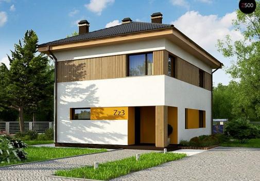 Проект двухэтажного дома Zz3 PK