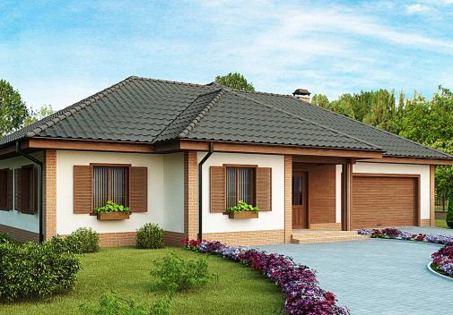 Проект дома со сложной крышей Z17