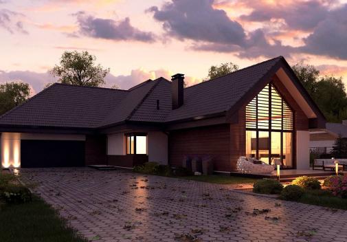 Проект дома Z402 B+