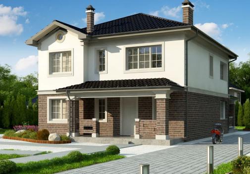 Проект дома для одной семьи Zz2 L BG P