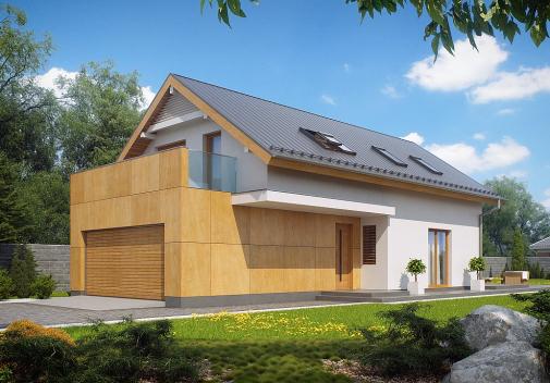 Проект дома с гаражом на 2 машины Z292