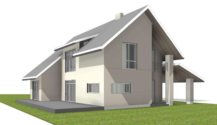 Двухэтажный дом в с. Любимовка