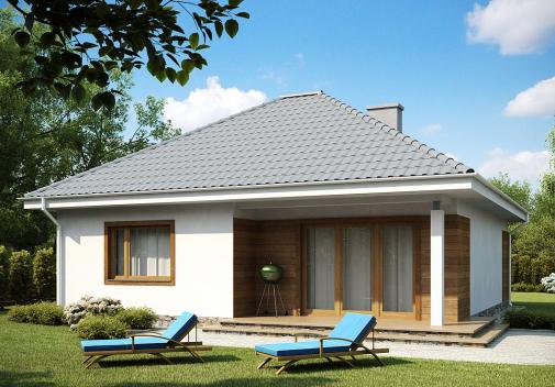 Проект дома со сложной крышей Z64