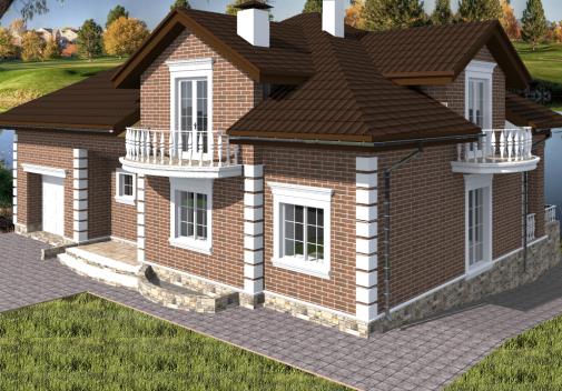 Проект дома с цоколем Db 4