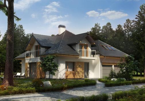 Проекты больших домов до 350 м2 Z270 A PK
