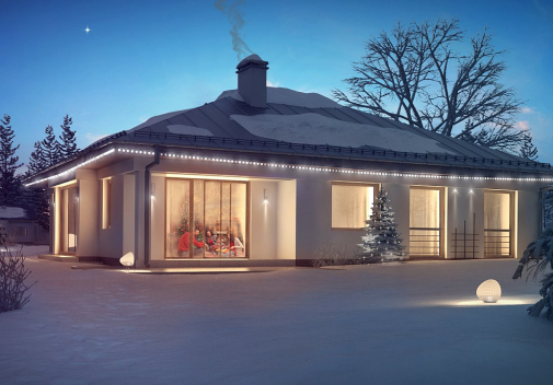 Проект дома с гаражом на 2 машины Z207