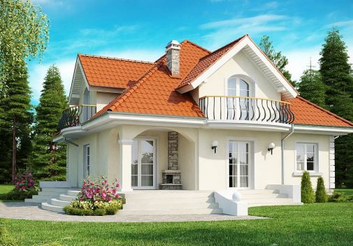Проект дома со сложной крышей Z18