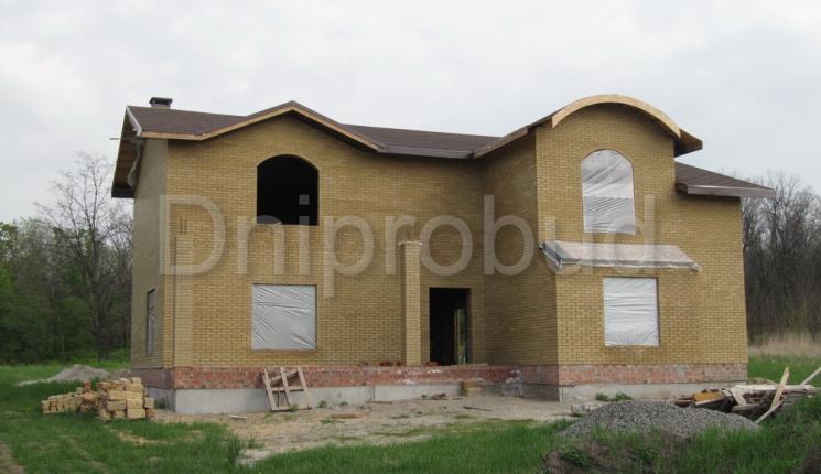 2-х этажный дом с полукруглой кровлей