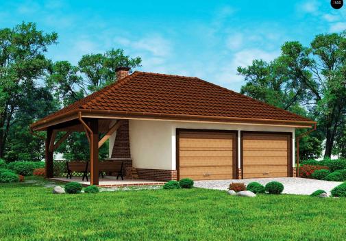 Проект одноэтажного дома Zg24
