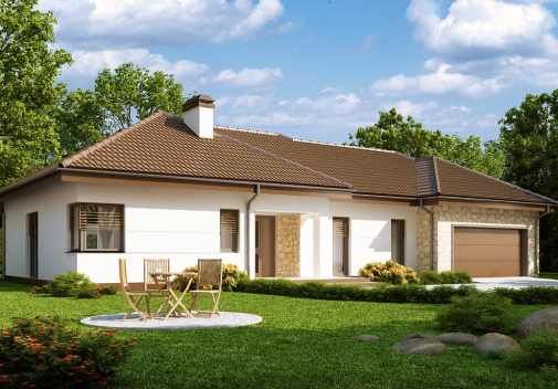 Проект дома со сложной крышей Z167